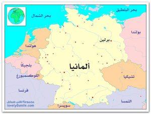 خريطة المانيا